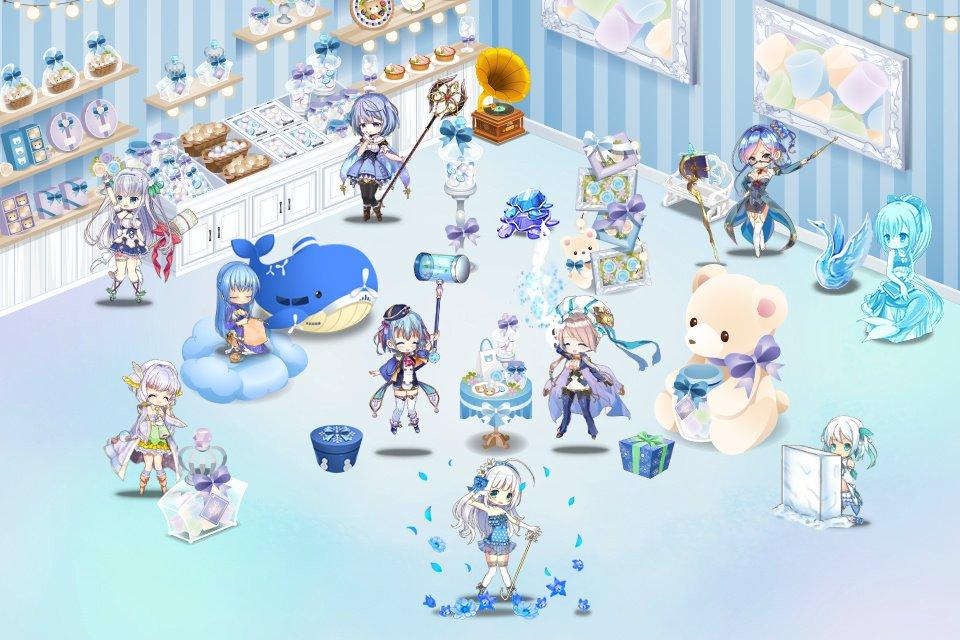 青と白の楽しみ